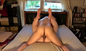 Extremely concupiscent non-professional pair screws and cums in sexy, homemade, creampie fashion: with window shades pulled aside, we fuck every other in the centre of the day and groan and yell out in absolute ecstasy