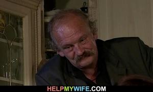 Hot slutty wife sucks and rides a stranger's pecker
