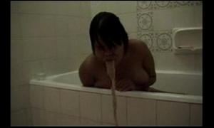 Nude wife puke vomit puking vomiting in bath