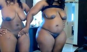 Two ebon bbw masturbates on livecam www.hotcamgirls.com.nu