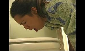 Overeating Married slut puke vomit puking vomiting gagging
