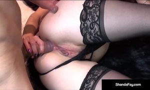 Naughty cheating wife shanda fay receives a dick in her slit & a-hole!