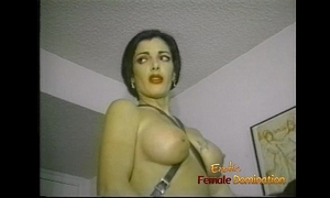 Slim raven-haired stunner makes a slutty stud engulf and ride a strap-on