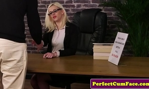 Spex britt wanks jock and cleans facial load