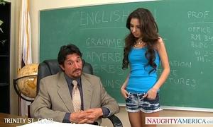 Slim schoolgirl trinity st. clair take penis