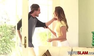 Teen amateur wife melissa moore cheats on her lame spouse