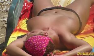 Topless voyeur beach non-professional milfs - spy-beach movie