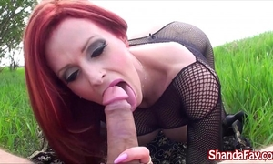 Canadian milf shanda fay finds a beautiful place to fuck!!