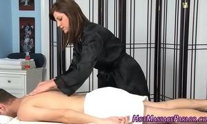 Tat masseuse engulfing dong