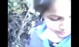 Indian college legal age teenager in outdoor
