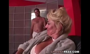 Busty grandma is getting her muff stuffed
