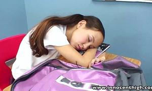 Innocenthigh teacher banging slender oriental teenies taut slit