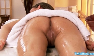 Glamcore dark brown honey cum-hole spoiled