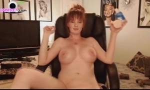 Milf redhead with large milk shakes from texas using her sex-toy on cams27.com