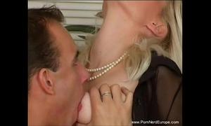 Classy blond european milf coarse sex