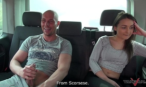 Hungarian slothful beauty didnt desire to leave the van after fuck
