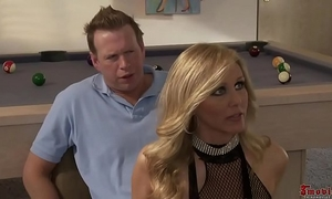 Sexy golden-haired undress dirty slut wife 3some alexis texas and julia ann
