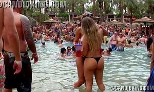 Two hot brazilian women making out in strap bikinis