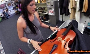Brazilian milf gives pawnshop owner a oral-stimulation for excitement
