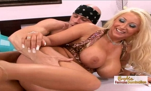 Skanky waitress acquires her pierced slit drilled