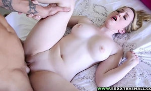 Exxxtrasmall - small hairless alexia gold taking a massive 10-Pounder