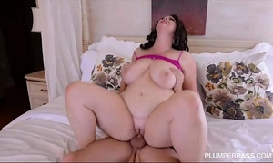 Plump large tit milf receives screwed in the wazoo by college fellow