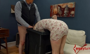 Goth slutty wife receives anal castigation and facefucking in the garbage