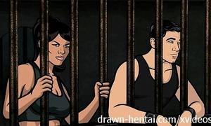 Archer manga - jail sex with lana