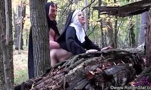 Smoking nun screwed by devil