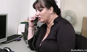 Fat secretary oral job and office fuck