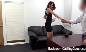 Slave christy chokes herself to anal big O