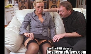 Tall white wife receives drilled and spermed!