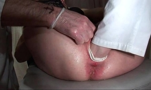 Two french matures team-fucked double teamed and fist screwed at the gyneco