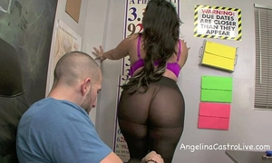 Sloppy footjob and irrumation in class with angelina castro!?