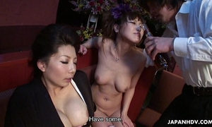 Two smokin' hawt japanese angels have a fun a wild sexual trio
