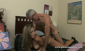 Young brunette hair whore shyla jameson copulates and old knob