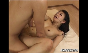 Gorgeous japanese tart groans during hardcore fucking