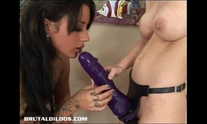 Busty brandi and mya fuck with biggest ding-dong dildos