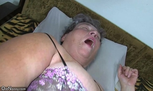 Old fat mama teaches her chunky younger woman masturbating use marital-device