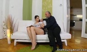 Irene is longing to have anal sex with old chap
