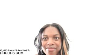 Ebony 18yr old whore bonks her cousin for money in hidden movie scene