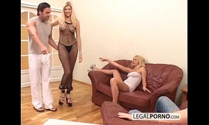 two hot blondes and two large jocks enjoying a foursome mg-1-02