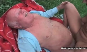 Pretty playgirl screwed by old dude