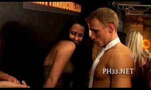 Bitches discovered diminutive rod in club