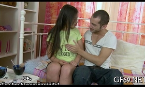 Virgin sweetheart acquires lusty examination