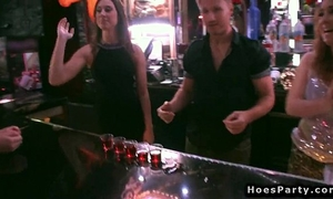 Bartenders fucking legal age teenagers after party