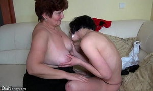 Older honeys fucking with younger chicks and licking honeys bawdy cleft