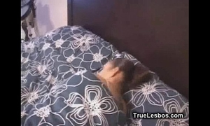 Lesbian latin chick cookie receives fingered in sleep01