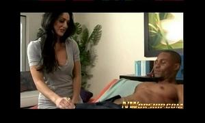 Hot dark brown milf mommy into interracial porn with a large dark shlong