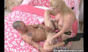 Ex con on probation receives a-hole drilled by my thong on!